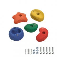 5 Pedras de escalada 90mm coloridas