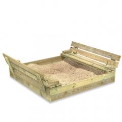 Caixa de Areia Infantil Flip com Tampa Articulada 120x125 cm
