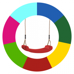 Mudança de cor de assentos para baloiço